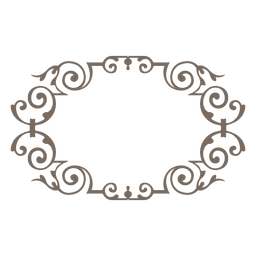 Decorative curves rounded frame