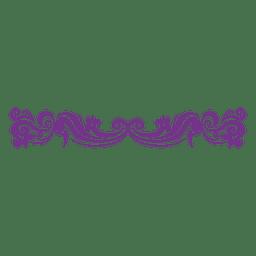 Divisor floral decorativo roxo