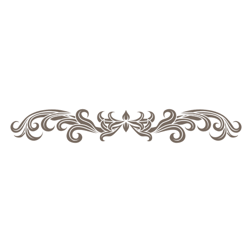 Decorative Floral Ornament Divider Transparent Png Amp Svg