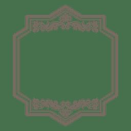 Decorative floral rectangular frame