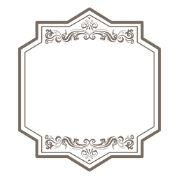 Decorativo floral marco rectangular