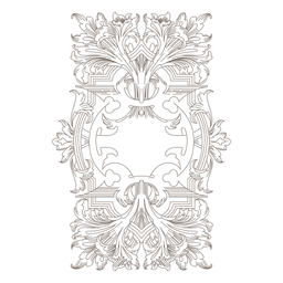 Fronteira de redemoinhos florais decorativos