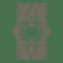 Frontera floral decorativa de los remolinos