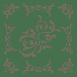 Marco decorativo floral remolinos en el interior