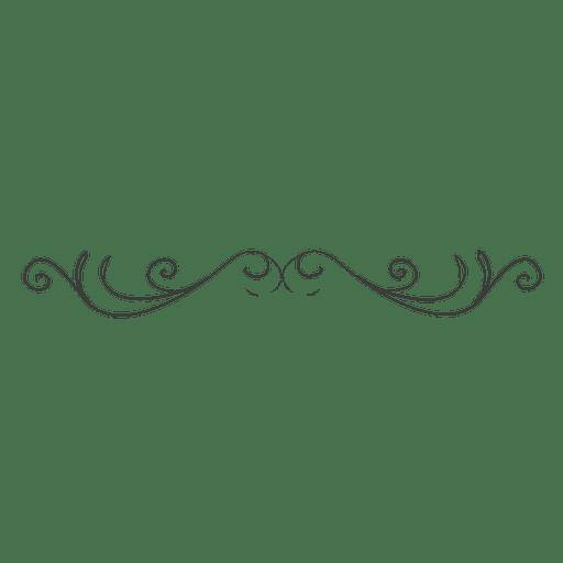 Dekorativer Hand gezeichneter gelockter Teiler Transparent PNG