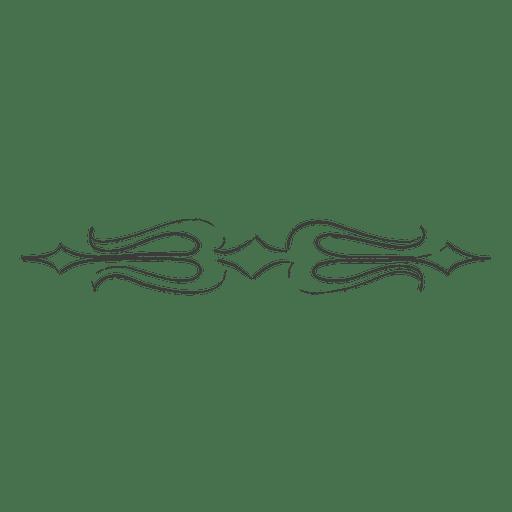 Divisor trishul decorativo dibujado a mano