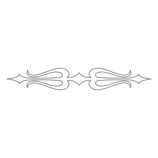 Decorative ornament divider Transparent PNG