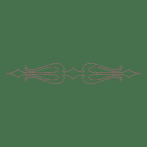 Dekorative Verzierungsteiler Transparent PNG