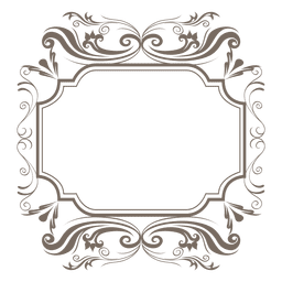 Decorative ornamented sqaure frame