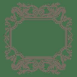 Moldura quadrada ornamentada decorativa