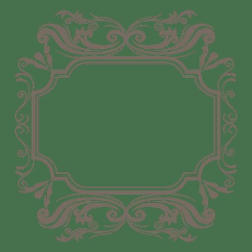 Quadro decorativo quadrado ornamentado Transparent PNG