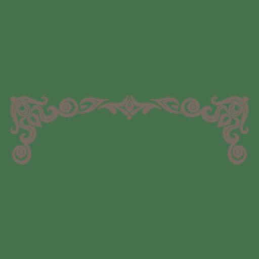 Marco decorativo adornado