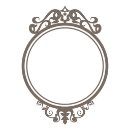 Decorative ornate round frame