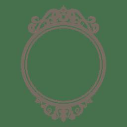 Marco redondo adornado decorativo
