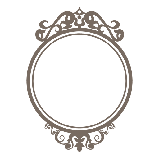 Decorative ornate round frame - Transparent PNG & SVG vector