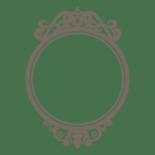 Marco redondo adornado decorativo Transparent PNG