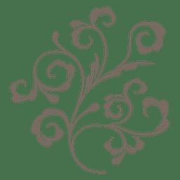 Redemoinhos de plantas decorativas