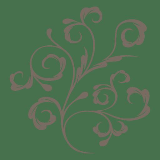 Decorative plant swirls Transparent PNG