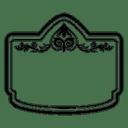 Decorativa moldura retangular 3