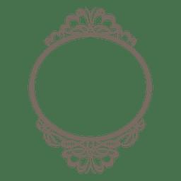 Decorativa quadro ornamentado arredondada