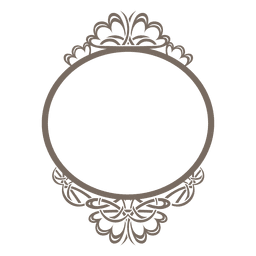 Decorative rounded ornate frame