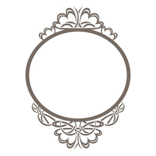Decorative rounded ornate frame Transparent PNG