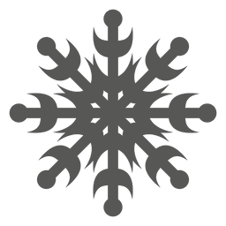 Dekorative Schneeflocke-Symbol