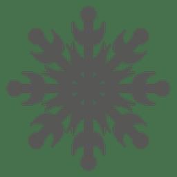 Icono de copo de nieve decorativo