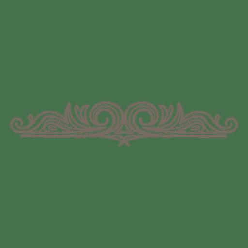 Decorative swirls divider