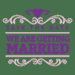 Emblema de casamento decorativo