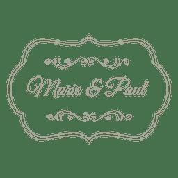 Emblema de convite de casamento decorativo 7