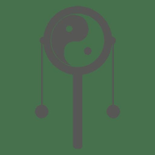 Decorative yin yang ball Transparent PNG