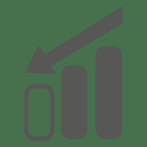 Decreasing graph arrow direction arrow