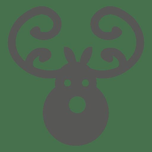 Icono de cabeza de ciervo Transparent PNG