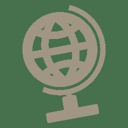 Tisch Globus-Symbol