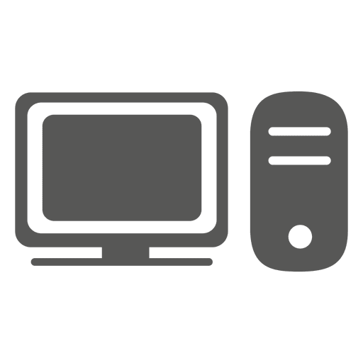 Icono de la computadora de escritorio Transparent PNG