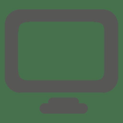 Icono del monitor de escritorio Transparent PNG