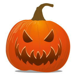 Devil pumpkin emoticon