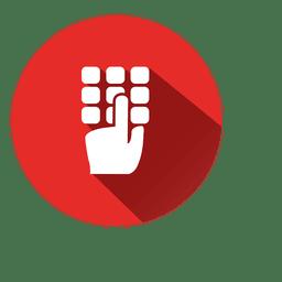 Icono de círculo del teclado