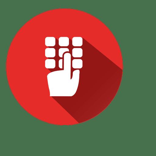 Dialpad circle icon - Transparent PNG & SVG vector