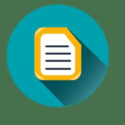 Icono del círculo documento