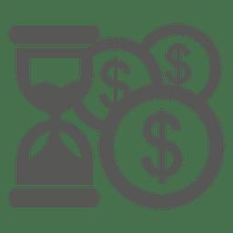 Dolla monedas cargando el icono del cursor