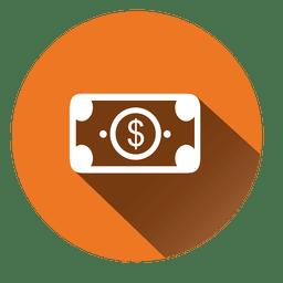 Ícone de círculo de conta de dólar