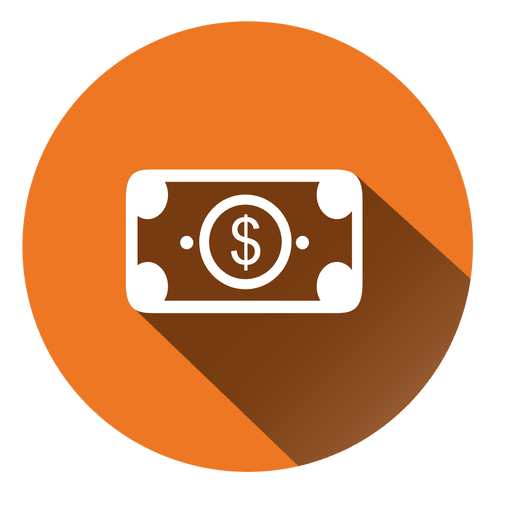 Dollar bill circle icon Transparent PNG
