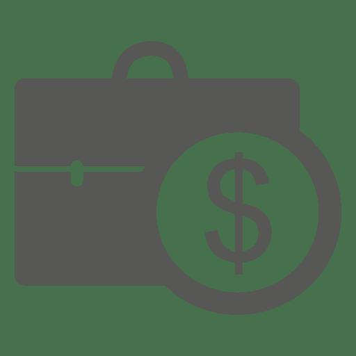 Moneda de dólar en maletín Transparent PNG
