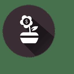 ícone da flor planta do dólar
