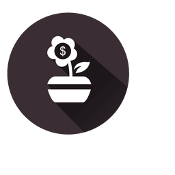 Dollar flower plant icon