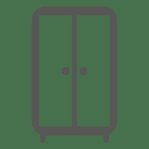 Icono de almirah de doble cámara. Transparent PNG