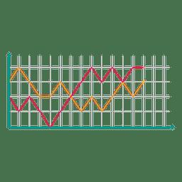 Doppeltes Diagramm Liniendiagramm-Infografik