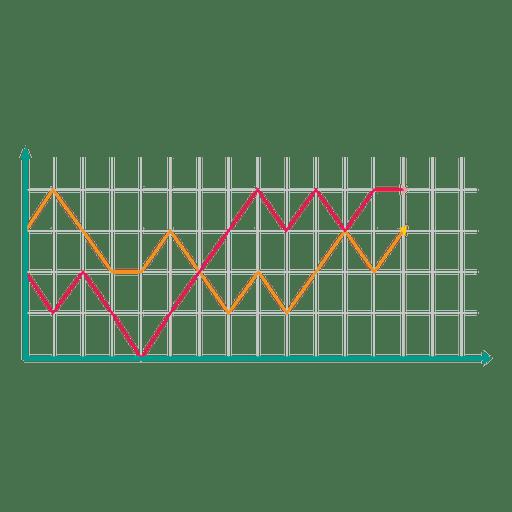 Infografía doble gráfico de linechart Transparent PNG